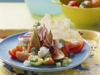 Feigensalat mit Tomaten und Ziegenkäse Rezept