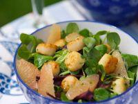Feldsalat mit Muscheln und Grapefruit Rezept