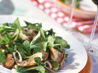 Feldsalat mit Pilzen Rezept