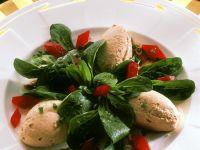 Feldsalat mit Putenlebermousse Rezept