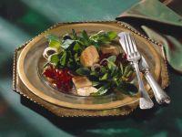Feldsalat mit Roter Bete und Räucheraal Rezept