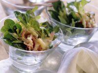 Feldsalat mit Schinken und Kartoffeldressing Rezept