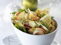 Fenchel-Apfel-Salat mit Jakobsmuscheln Rezept