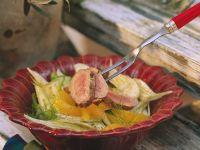 Fenchel-Orangensalat mit Schweinefleisch Rezept