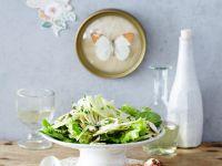 Fenchelsalat mit Champignons und gebackenem Ziegenkäse Rezept