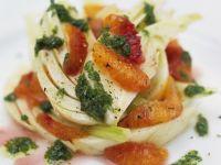 Fenchelsalat mit Orangen und Rucoladressing Rezept