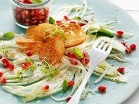 Fenchelsalat mit Sesam und Granatapfel
