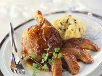Festlicher Gänsebraten mit Trüffel-Kartoffelpüree Rezept