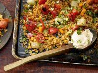 Fettarme vegetarische Gerichte
