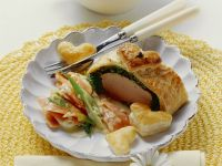 Filet im Kräuter-Blätterteig mit Karottengemüse Rezept