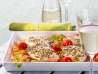 Filet vom Seelachs auf Gemüse Rezept