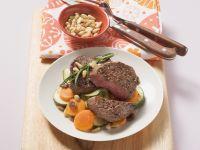 Filetsteak auf Gemüse Rezept