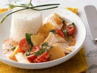 Kirsch-Curry mit Fisch und Ananas Rezept