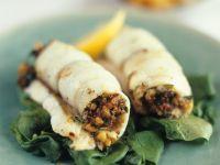 Fisch-Gemüse-Rouladen mit Spinat Rezept