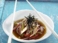 Fisch in Marinade mit Algenblättern Rezept