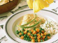 Fisch mit Gemüse und Reis