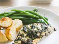 Fisch mit Kräuterhaube Rezept