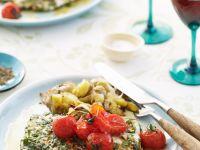 Fisch mit Tomaten und Kräutersoße Rezept
