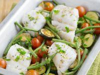 Fisch-Zucchini-Auflauf mit Kirschtomaten Rezept