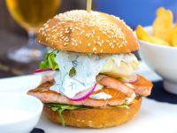 Fischburger mit Grüner Sauce