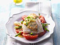 Fischfilet mit Limetten-Salsa und Schmortomaten Rezept