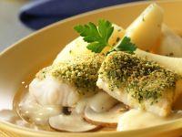 Fischfilet mit Petersilienhaube in Wermut Rezept