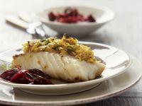Fischfilet mit Senf-Kartoffel-Haube und Rote-Bete-Gemüse Rezept