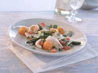 Fischfilet-Salat mit grünem Spargel Rezept