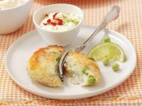 Fischfrikadellen mit scharfem Limetten-Dip Rezept