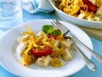 Fischgratin mit Kartoffeln und Paprika Rezept