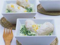Fischnocken mit Spinat Rezept