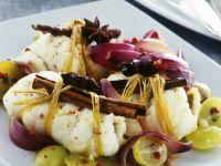 Fischrouladen mit Weintrauben Rezept
