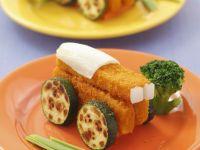 Fischstäbchen und Zucchini Rezept