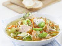 Fischsuppe mit Gemüse und Croutons Rezept