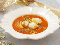 Fischsuppe mit Tomaten und Nudeln Rezept