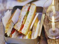 Fladenbrote mit Auberginen und Paprika Rezept