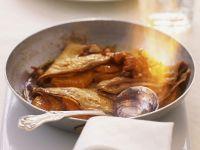 Flambierte Crêpes mit Karamell-Mandarinen Rezept