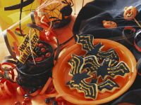 Fledermaus-Kekse zu Halloween Rezept