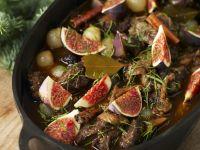 Fleischtopf mit Zimt und Feigen zu Weihnachten Rezept