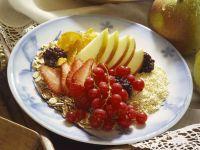 Flockenmüsli mit Obst Rezept