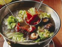 Fondue auf chinesische Art Rezept