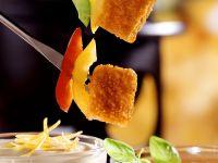 Fondue mit Fischstäbchen Rezept