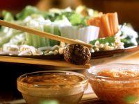 Fondue mit Fleischbällchen Rezept
