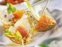 Fondue mit Gemüse und Fisch Rezept