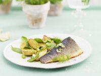 Forelle mit Ofenkartoffeln und Spinat Rezept