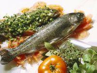 Forelle mit Tomaten und Kräutern Rezept