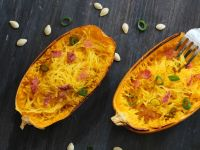 Low-Carb-Pasta: Spaghettikürbis alla Carbonara