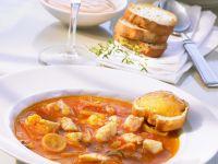 Französische Fischsuppe (Bouillabaisse) mit Rouille Rezept