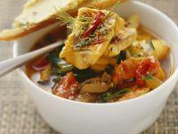 Französische Fischsuppe mit Rouille