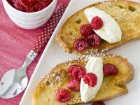 French Toasts mit Mascarpone und Himbeeren Rezept